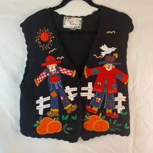 Carolina colours embroidered patch fall vest